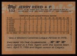 1988 Topps #332  Jerry Reed  Back Thumbnail