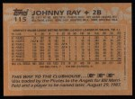 1988 Topps #115  Johnny Ray  Back Thumbnail