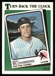 1988 Topps #663   -  Ron Blomberg Turn Back The Clock Front Thumbnail