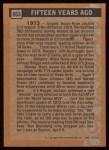 1988 Topps #663   -  Ron Blomberg Turn Back The Clock Back Thumbnail