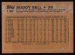 1988 Topps #130  Buddy Bell  Back Thumbnail