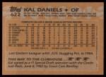 1988 Topps #622  Kal Daniels  Back Thumbnail