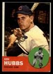 1963 Topps #15  Ken Hubbs  Front Thumbnail