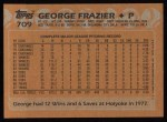 1988 Topps #709  George Frazier  Back Thumbnail