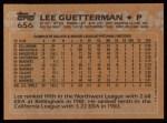 1988 Topps #656  Lee Guetterman  Back Thumbnail
