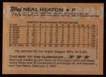 1988 Topps #765  Neal Heaton  Back Thumbnail