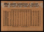 1988 Topps #281  Jerry Hairston  Back Thumbnail