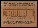 1988 Topps #221  Rafael Belliard  Back Thumbnail