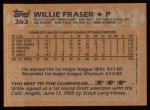 1988 Topps #363  Willie Fraser  Back Thumbnail