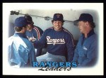 1988 Topps #201   Rangers Leaders Front Thumbnail