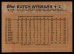 1988 Topps #737  Butch Wynegar  Back Thumbnail