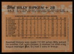 1988 Topps #352  Bill Ripken  Back Thumbnail