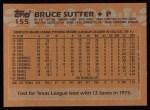 1988 Topps #155  Bruce Sutter  Back Thumbnail