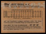 1988 Topps #176  Jeff Reed  Back Thumbnail