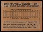 1988 Topps #454  Marvell Wynne  Back Thumbnail