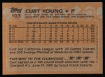 1988 Topps #103  Curt Young  Back Thumbnail