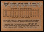 1988 Topps #39  Gerald Perry  Back Thumbnail