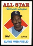 1988 Topps #392   -  Dave Winfield All-Star Front Thumbnail