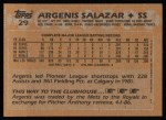 1988 Topps #29  Angel Salazar  Back Thumbnail