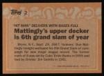 1988 Topps #2   -  Don Mattingly Record Breaker Back Thumbnail