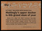 1988 Topps #2   -  Don Mattingly Record Breaker Back Thumbnail
