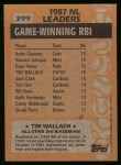 1988 Topps #399   -  Tim Wallach All-Star Back Thumbnail