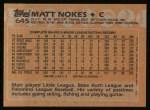 1988 Topps #645  Matt Nokes  Back Thumbnail
