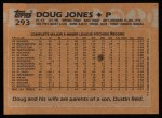 1988 Topps #293  Doug Jones  Back Thumbnail
