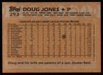 1988 Topps #293  Doug Jones  Back Thumbnail