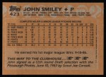 1988 Topps #423  John Smiley  Back Thumbnail