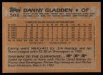1988 Topps #502  Dan Gladden  Back Thumbnail