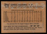 1988 Topps #369  Greg Harris  Back Thumbnail