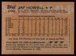 1988 Topps #690  Jay Howell  Back Thumbnail