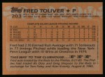 1988 Topps #203  Fred Toliver  Back Thumbnail