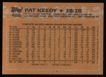 1988 Topps #486  Pat Keedy  Back Thumbnail