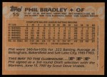 1988 Topps #55  Phil Bradley  Back Thumbnail