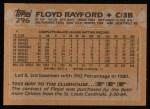 1988 Topps #296  Floyd Rayford  Back Thumbnail