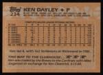 1988 Topps #234  Ken Dayley  Back Thumbnail
