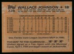 1988 Topps #228  Wallace Johnson  Back Thumbnail