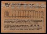 1988 Topps #24  Jim Deshaies  Back Thumbnail