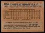 1988 Topps #551  Terry Steinbach  Back Thumbnail