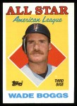 1988 Topps #388   -  Wade Boggs All-Star Front Thumbnail