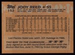 1988 Topps #152  Jody Reed  Back Thumbnail