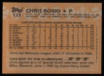 1988 Topps #137  Chris Bosio  Back Thumbnail