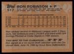 1988 Topps #517  Ron Robinson  Back Thumbnail