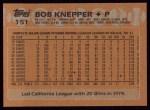 1988 Topps #151  Bob Knepper  Back Thumbnail