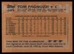 1988 Topps #689  Tom Pagnozzi  Back Thumbnail