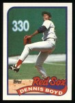 1989 Topps #326  Dennis Boyd  Front Thumbnail