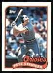 1989 Topps #497  Pete Stanicek  Front Thumbnail