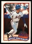 1989 Topps #508  Wally Backman  Front Thumbnail